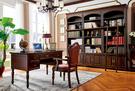 [紅蘋果傢俱] 601 美式英倫風系列 書桌 桌子(另售 書椅 椅子) 數千坪展示