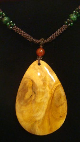 世界遺產 阿里山檜木造型項鍊 型二 ( 來源合法)