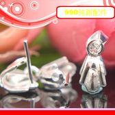 銀鏡DIY S990純銀DIY材料配件/波浪造型吊墜頭/項墜夾頭C~適合手作串珠/蠶絲蠟線(非合金)