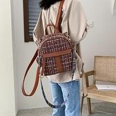 秋季休閒學院包包女新款韓版時尚大容量撞色書包百 『快速出貨』