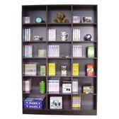 【頂堅】18格(寬120公分)書櫃/收納櫃/置物櫃(二色可選)深胡桃木色