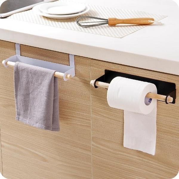 壁掛單桿毛巾架廚房門背抹布架掛架毛巾掛