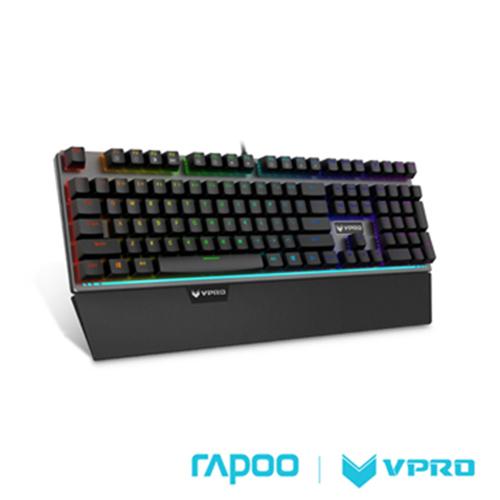 雷柏 RAPOO VPRO V720S (青軸) 黑色 全彩RGB背光機械遊戲鍵盤