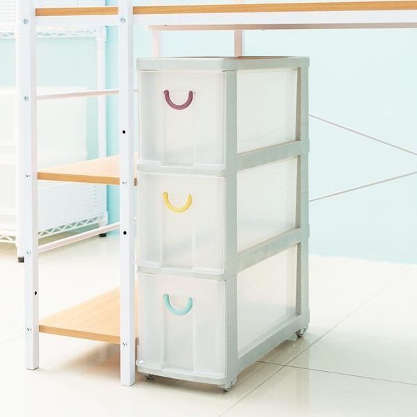 收納櫃/置物櫃/衣物櫃 微微笑移動式隙縫收納櫃_三大格款  dayneeds
