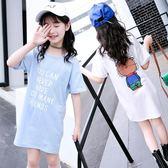 虧本衝量-女童短袖t恤夏裝新款童裝卡通中大童打底衫中長款兒童半袖潮 快速出貨