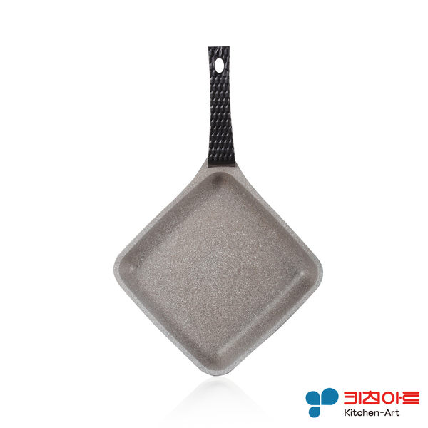 韓國進口Kitchen Art 鈦石鍋 不沾鍋(直徑16cm菱形平煎鍋) 鈦晶不沾鍋 鍋內一體成型無接縫