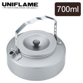 丹大戶外【UNIFLAME】日式扁水壺 700ml 水壺/燒水壺/質輕好攜帶 667729