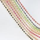 腰鏈皮帶 素色 珍珠 金屬 拼接 編織  裝飾 細款 鍊條 腰帶【EU1266】 BOBI  02/21