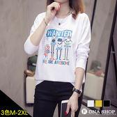 F-DNA★WANTED小怪物印圖長袖圓領上衣T恤(3色-M-2XL)【ET12820】