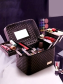 大容量韓國化妝包女多功能層小號 便攜手提化妝品收納盒簡約箱Mandyc
