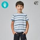 ADISI 童短袖COOLMAX沁涼條紋休閒圓領T AL2011135 (120-150) / 城市綠洲 (涼感 透氣 輕量 吸濕排汗)