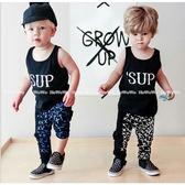 男寶寶套裝 SUP 潮流無袖背心 + 長褲 嬰兒童裝 SK221