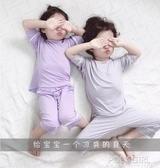 兒童睡衣莫代爾棉綢夏季薄款女寬鬆家居服套裝男童女童寶寶男孩男 poly girl