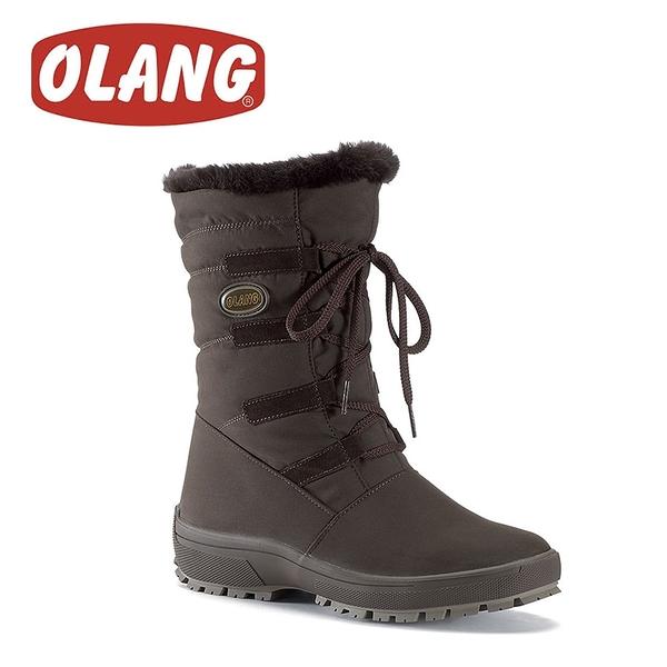 【OLANG 義大利 NORA OLANTEX 女款 防水雪靴《咖啡》】1402/保暖/滑雪/雪地