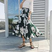 中大尺碼 夏季新款韓版百搭寬鬆中長款半身女不規則百褶裙 JA22【VIKI菈菈】