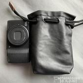 相機皮套理光GRIIIGR23內膽包軟皮套佳能g7x2黑卡RX100m6m5相機包 非凡小鋪