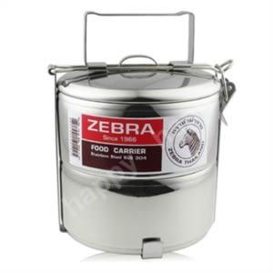 斑馬牌不銹鋼多層提鍋便當盒12cm*2層
