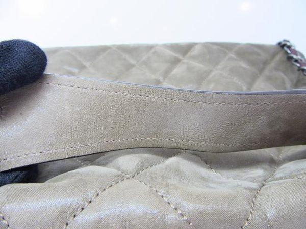 CHANEL 香奈兒 茶色幻彩小牛皮復刻版銀釦單蓋手提肩背包 【BRAND OFF】