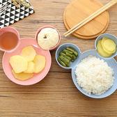 ✭米菈生活館✭【P583】環保小麥兒童餐盤 小麥纖維 分格 點心 衛生 水果 餐盤 塑料碗 耐摔 健康