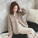 學生chic寬鬆上衣冬季新款韓版小個子百搭皮毛一體羊羔毛短外套女 安妮塔小舖