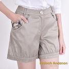 Kinloch Anderson金安德森   袋口格紋蝴蝶結縮口短褲  ( 2色 )