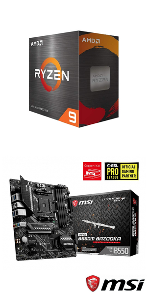 【自組DIY兩件組R59】AMD R9 5900X+微星 B550M BAZOOKA