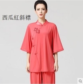 熊孩子❤新款水晶麻中袖武術練功服晨練表演服 女(主圖款3)