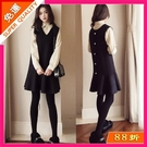快速出貨 秋季套裝女中大尺碼寬鬆顯瘦上衣網紅襯衫洋裝 連身裙兩件套潮