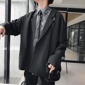 西裝外套秋季港風西裝外套男韓版寬鬆休閒復古小西服潮流學生單西上衣春季新品