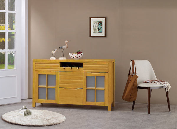 HY-849-5  日式松木4.5尺餐櫃-半實木/H16-功能收納抽屜