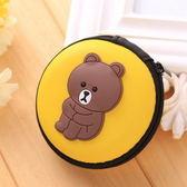 耳機包 日韓創意耳機鑰匙包零錢包 布朗熊 【金奇】