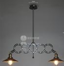 美術燈 鄉村工業升降伸縮麻將燈單頭玻璃罩吊燈(雙頭希臘剪刀金屬罩) -不含光源