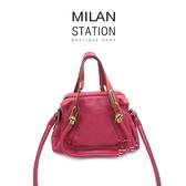 【台中米蘭站】CHLOE 莓果紅 牛皮 MINI PARATY 兩用包