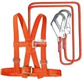 高空作業安全帶防墜落戶外施工安裝雙保險帶五點式耐磨安全繩套裝 易家樂小鋪