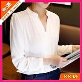 快速出貨 女式襯衫韓版長袖時尚休閒短袖襯衣顯瘦雪紡衫