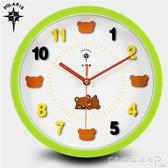 12英寸可愛卡通創意掛鐘兒童房臥室靜音石英鐘客廳鐘錶掛錶 水晶鞋坊
