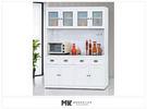 【MK億騰傢俱】ES703-03綺雅娜白色5尺碗盤餐櫃(全組)