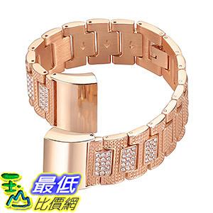 [106美國直購] Fitbit Charge 2 Bands,bayite Metal Bands Rhinestone Bling Bracelet Replacement Accessory Straps 金屬錶帶