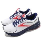 Brooks 慢跑鞋 Adrenaline GTS 21 Run USA 白 藍 紅 女鞋【ACS】 1203291B166