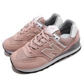 New Balance 復古慢跑鞋 574 NB 粉紅 白 麂皮鞋面 基本款 運動鞋 休閒鞋 女鞋【ACS】 WL574UNCB