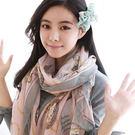 披肩 圍巾 鐘錶圖紋雪紡 絲巾 (4色)...