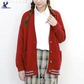 【秋冬新品】American Bluedeer - 學院風針織外套 二色