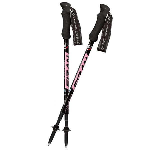 [好也戶外] FIZAN 超輕四節式健行登山杖2入特惠組/粉紅 No.FZS20.7106.PINK