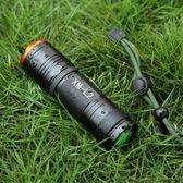 黑五好物節 26650手電筒強光L2迷你變焦充電軍戶外騎行led遠射超亮防水5000【一條街】