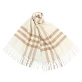 BURBERRY 經典格紋喀什米爾羊毛圍巾(雪花白)089540-8