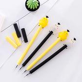 【BlueCat】厚片咕嚕雞黃白筆身中性筆 水性筆