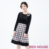 【RED HOUSE 蕾赫斯】素面格紋洋裝(共2色)