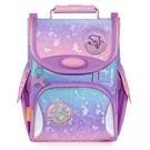 一年級二年級護脊書包 Tiger Family小貴族護童安全燈超輕量護脊書包-粉紫樂園 兒童書包