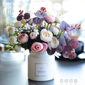 北歐小清新假花模擬花擺件客廳裝飾花絹花桌面擺放花藝