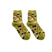 襪子woow男女款夏季黃綠彩色卡通復古韓國中筒花長襪子潮滑板涼鞋ins霓裳細軟